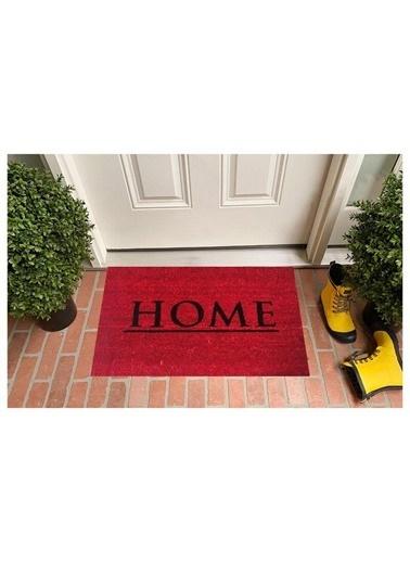 Giz Home Koko Kapı Paspası 33X60 Yarımay Kırmızı Home Kırmızı